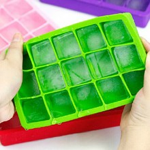 DIY Silicone Ice Cube Tray 15 Grids Square Shape Ice Cream Mold Maker Ice Mold Container Drinking Bar Accessories