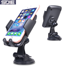 STJIE universal car cell phone holder car windshield suction stand for mobile phone cellphone support cradle bracket grip(China)