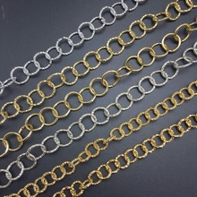 DIY jewelry accessories production Gold silver Light necklace making Sexy flash style Round Retro-style chain 100cm