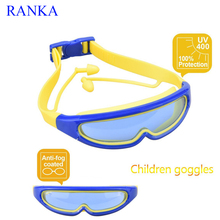 Large Vision Kids Swim Goggles Large Frame Swimming Glasses for 3-15 Years Old Children No Leaking Anti-Fog UV Protection(China)