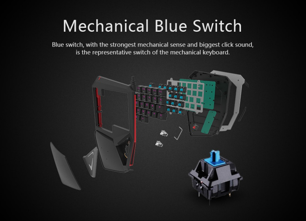 Delux T9 PLUS mini keyboard mechanical Gaming professional Keypad Ergonomic Gamepad With RGB Backlight for laptop pc for games