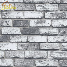 Modern Vintage Brick Stone Room Wallpaper Mural 3D Vinyl Waterproof Embossed Wall Paper Roll Papel De Parede Home Decor 10M(China)