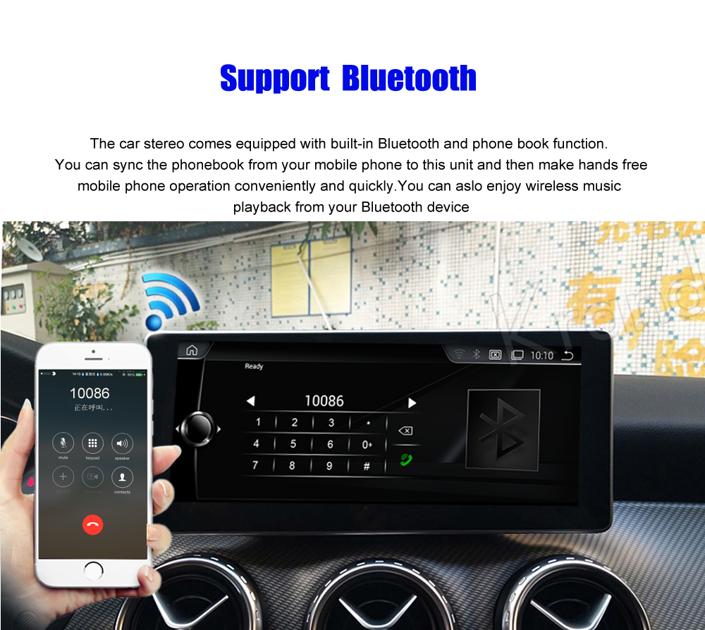 Krando 10.25'' android car radio multimedia for BENZ GLA CLA A CLASS 2016-2017 Big screen navigation with gps system