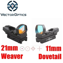 Vector Optics IMP 1x23x34 Multi Reticle Reflex Red Dot Scope Sight with 20mm Weaver or 11mm Dovetail Mount Base(China)