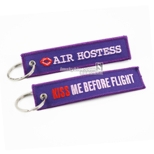 Romantic Travel Accessories for Air Hostess Kiss Me Before Flight Purple Bag Tag Best Gift for Girl Friend Lover Wife