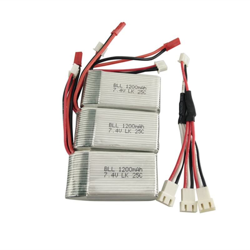 3pcs 7.4V Wltoys A949 A959 A969 A979 K929 LiPo Battery 1200mah Lipo Battery For Wltoys a959 RC Helicopter Airplane Car Boat<br>