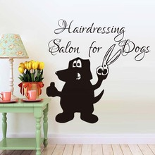Hair Dressing Salon For Dogs Creative Quotes Wall Sticker Dogs Grooming Pet Shop Wall Art Removable Funny Decals Home Art Decor(China)