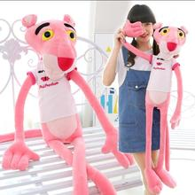 1pc 120cm NICI Hot Sale Wear Clothes Lovely Leopard Wave Of Pink Panther Plush Toys t-shirts Pink Pinkpanther Doll birthday gift(China)