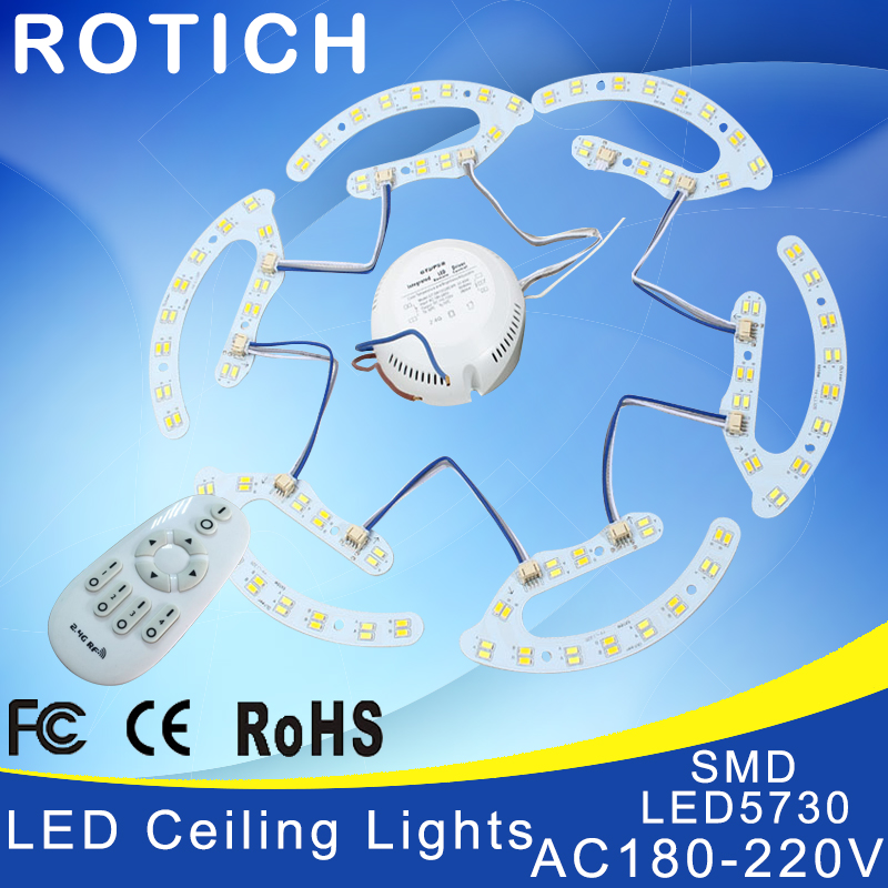 NEW 8w 16w 24w 32w 2.4g rf remote control led ceiling light Lamp plate 5730smd circular panel color temperature is adjustable<br><br>Aliexpress