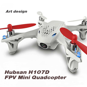 Hubsan X4 H107D 5.8G RTF 6-axis Gyro RC FPV Quadcopter Mini Drone with 0.3MP Camera Mode 1 LCD Transmitter