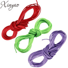 XINYAO 10m 1 2 mm Pu Leather Waxed Cord Colored Nylon String Thread Rope Cord for DIY Necklace Bracelet Jewelry Making F576(China)