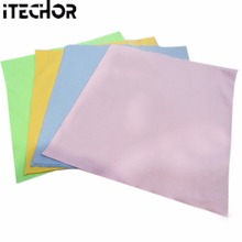 iTECHOR 1pcs Large Microfiber Cleaning Cloth for Screens, Lenses, Glasses 40*40cm Household Cleaning Tools - Color Random