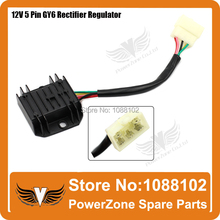 12V 5 Wires Cables Voltage Regulator Rectifier Fit GY6 50cc 125cc 150cc Bike Moped Scooter Motorcycle Free Shipping(China)