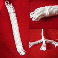 Buy 4mm White Climbing Rope Safety Pull Escape Flagpole Rope Line Braided Tent Rope Bicycle Bike Cycling MTB Luggage Stacking Rope for $2.36 in AliExpress store