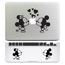 "Micky & Minnie 2 in 1 Notebook Decal Set for Apple MacBook Decal Air Retina Pro 11"" 12"" 13"" 15"" Mac Skin Trackpad Laptop Sticker"