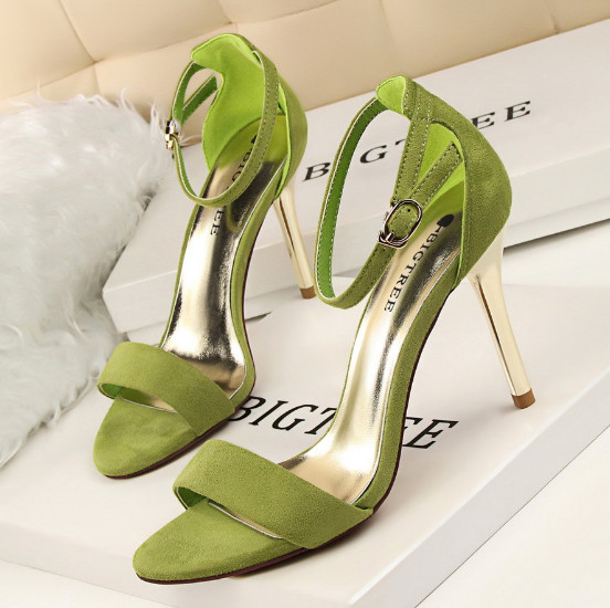 BIGTREE 2017 Women High Heels Sandals Summer Fish mouth Open Toe Sandals Thin Suede Woman shoes Fashion Dress Shoes Woman<br>