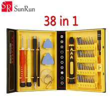KS- 38 in 1 Precision Screwdriver Set Repair Opening Box Magnetic Tools Kit for Cell Phone iPhone 6 Plus 5S Notebook PC Tablet