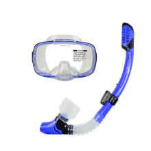 Free Shipping Scuba Diving Swimming Set Blue Diving Swimming  Mask Glasses Dry Snorkel Set MS-255122