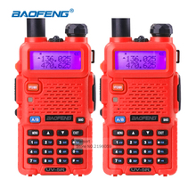 Walkie Talkie Baofeng uv-5r 5W Dual Band VHF/UHF136-174Mhz&400-520Mhz Ham Wireless Radio Communicator HF Transceiver Walky Talky(China)