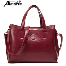 Women Hand Bag New Laides Fashion Shoulder Bags High Quality Black PU Handbag Women's Croosbody Bag Female Red Totes