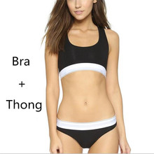 Famous Brand CSK8001 Women Bra+Thong Underwear Set High Quality Cotton Seamless Sexy Bra Suit for Girls