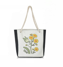 Ethnic Women School Bag Handmade Ladies Canvas Cover Casual National Hand-painted Customized DEER TREE