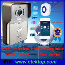 720P HD Outdoor WiFi Doorbell Onvif Video Door Phone With SD Card Inside Full Duplex Audio PIR Function One-key wifi Connect