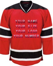 Custom Any ICE Hockey Jerseys Any logo/Name/Number White/Red Sewn On XXS-6XL Embroidery Jersey Wholesale China Free Shipping