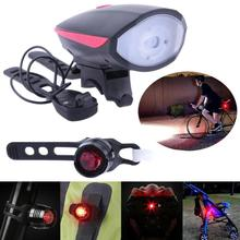 Led Bike Lights Silicone Bicycle Light Head Front Rear Wheel LED Flash Lamp Waterproof Cycling Front Led Light USB Charging New(China)