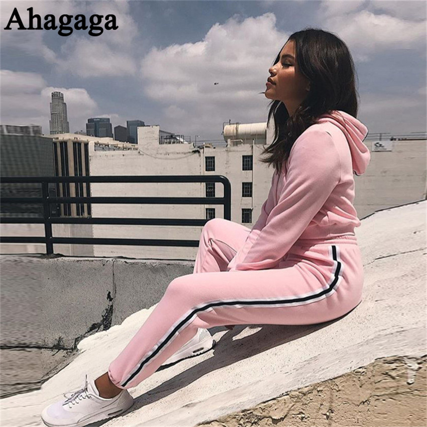 Women's Tracksuits Set, Casual Hooded Sweatsuit Set 26