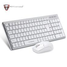 100% Original Motospeed G2000 2.4Ghz White Color Wireless Keyboard And Mouse Set for PC / Desktop / Laptop Professional Gamer