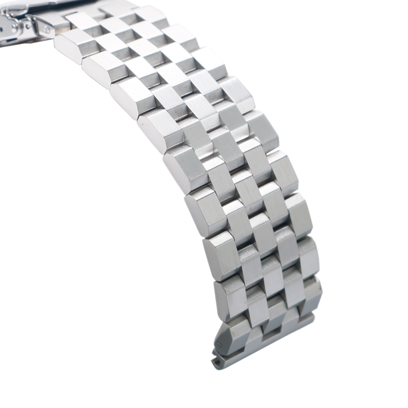 High Quality 2022mm SilverBlack Bracelet Men Women Watch Band Strap Cool Replacement Solid Link Stainless Steel Watchstrap 2017 Luxury (3)