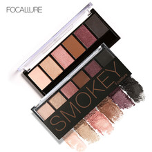 FOCALLURE 6 Colors Makeup Shimmer Eyeshadow Palette Cosmetic Neutral Warm Eye Shadow(China)