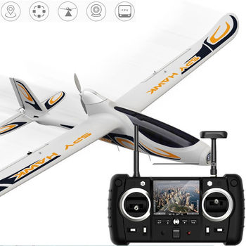 Hubsan H301S 5.8G FPV 4CH RC Airplane RTF With GPS Module White Color Mode 2 Left Hand