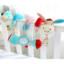 Baby Toys 0-12 Months Bed Bell Toys For Children Mothercare Hanging Stroller Rattles Animal Dolls Educational Kids Toy(China)