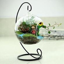 New Hot Clear Glass Round with 1 Hole Flower Plant Hanging Vase Hydroponic Home Office Wedding Decor