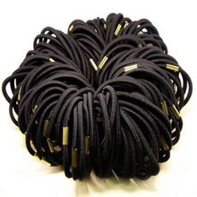 10pcs Beauty Girl Black Elastic Hair Ties Band Rope Ponytail Bracelets Scrunchie