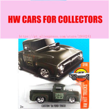 2017 Hot 1:64 Car wheels dark custom 56 ford truck Metal Diecast Cars Collection Kids Toys Vehicle For Children Juguetes