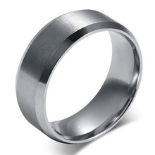 Bright Clear High Polished Stainless Steel Ring Wedding Bands Engagement Ring For Love R-004S