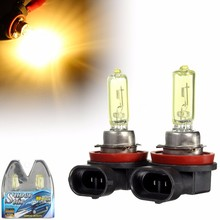 1Pair 12V 55W 4000K H11 Car Fog Light Bulb Lamp Halogen Xenon Car Auto Head Lamp Cars H11 Car Styling Yellow