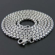 4mm 50cm 60cm 80cm 90cm Man Chain Necklace 316L Stainless Steel Pendant Necklace Titanium Stainless Steel Boy's Jewelry