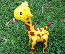 Super cute inflatable cartoon giraffe PVC inflatable toys wholesale children's toys The kindergarten toy