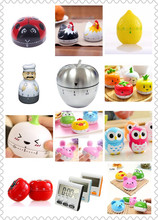 Cute Mini Fruit Style Mechanical Creative Kitchen Cooking Timer Alarm 60 Minutes Stainless Steel Digital Timer Alarm