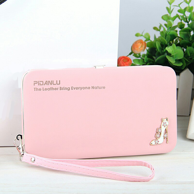 Women Wallet For Mobile High-Heeled Shoes Pattern Clutch PU Leather Womens Wallets And Purses Ladies Carteira Feminina qb-019<br><br>Aliexpress