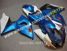 Hot Sales,For suzuki fairing GSX-R1000 2009-2014 GSXR1000 09 10 11 12 13 14 blue white K9 ABS fairings Kit (Injection molding)