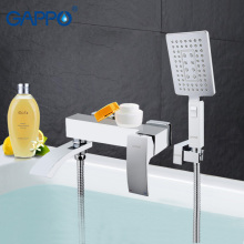 GAPPO Bathtub Faucet bathroom faucet bathroom taps wall mount Brass bathtub mixer bath mixer sink faucet waterfall faucetGA32078(China)