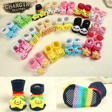 1 Pair 0-18 Month Newborn Baby Anti Slip Cotton Lovely Cute Shoes Animal Cartoon Slippers Boots Boy Girl Unisex Skid Socks