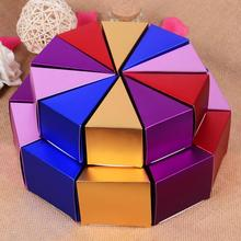 100pcs Small Paper Birthday Party Cake Gift Box Wedding Favour Candy Boxes Red Gold Blue Sweet Gift Box Party Favors Box(China)
