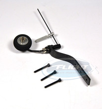 Carbon Fiber Tail Wheel Set Tail Landing Gear With Sponge Wheel For 20cc Gas RC Airplane