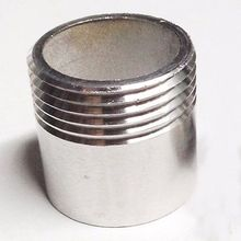 "1-1/4"" BSP Female Thread 304 Stainless Steel Pipe Fitting Weld Nipple Coupling Connector for water oil air"